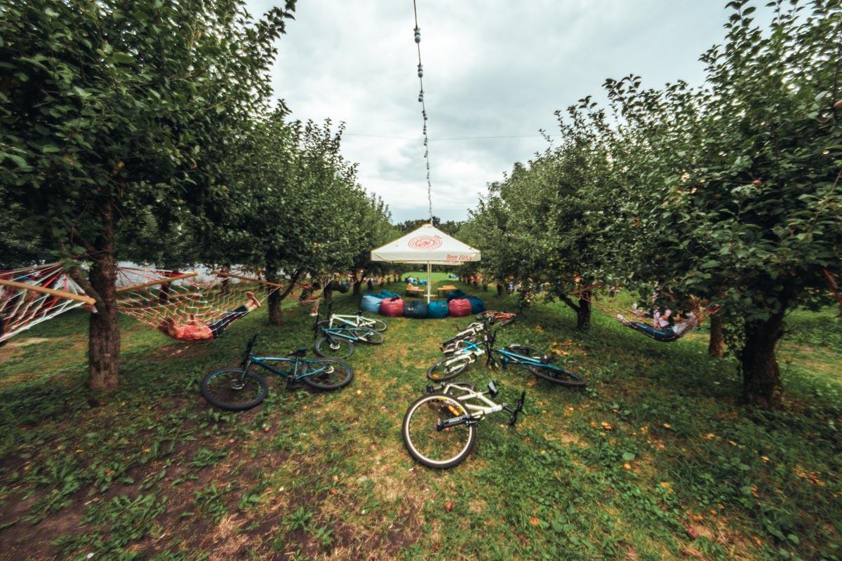 На ВДНГ вам дадут велосипед напрокат. Здесь также можно полежать в гамаке