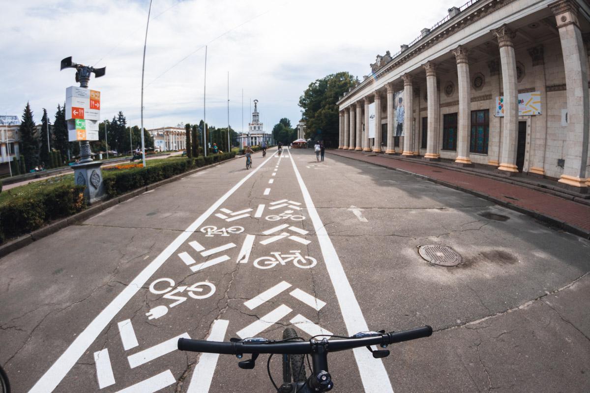Сейчас велоразметка появилась только в центральной части парка