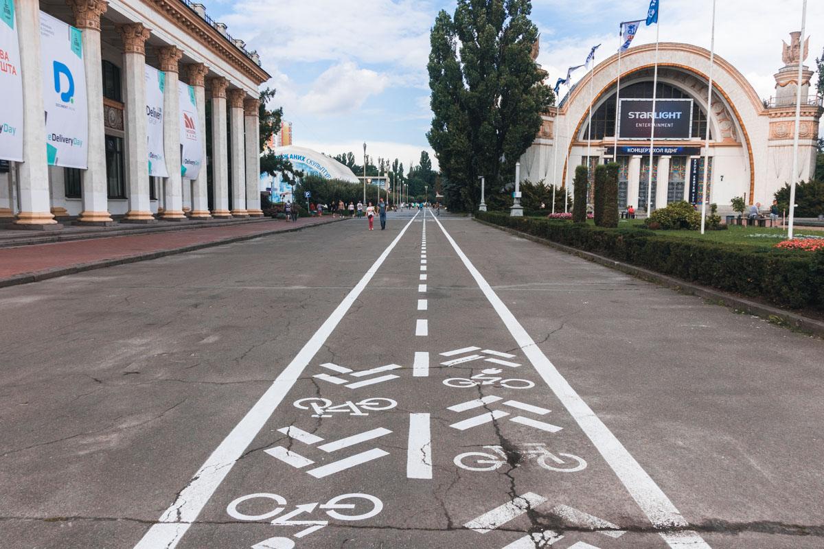 На ВДНГ открыли новые велодорожки
