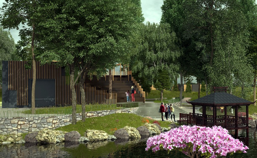 В зоопарке Киева появится японская беседка