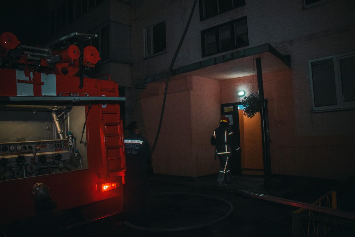 На Политехническом переулке, 5 произошел пожар в лифте