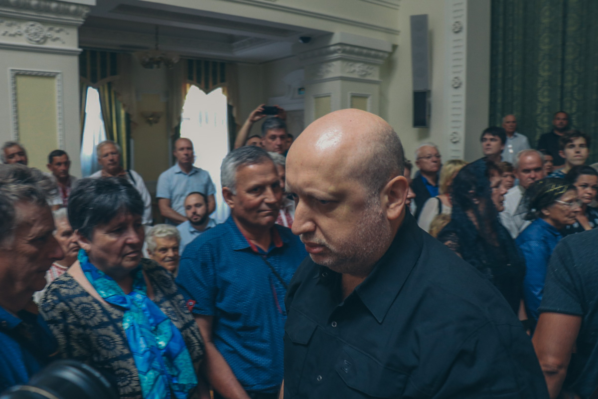 На церемонию приехал и Александр Турчинов