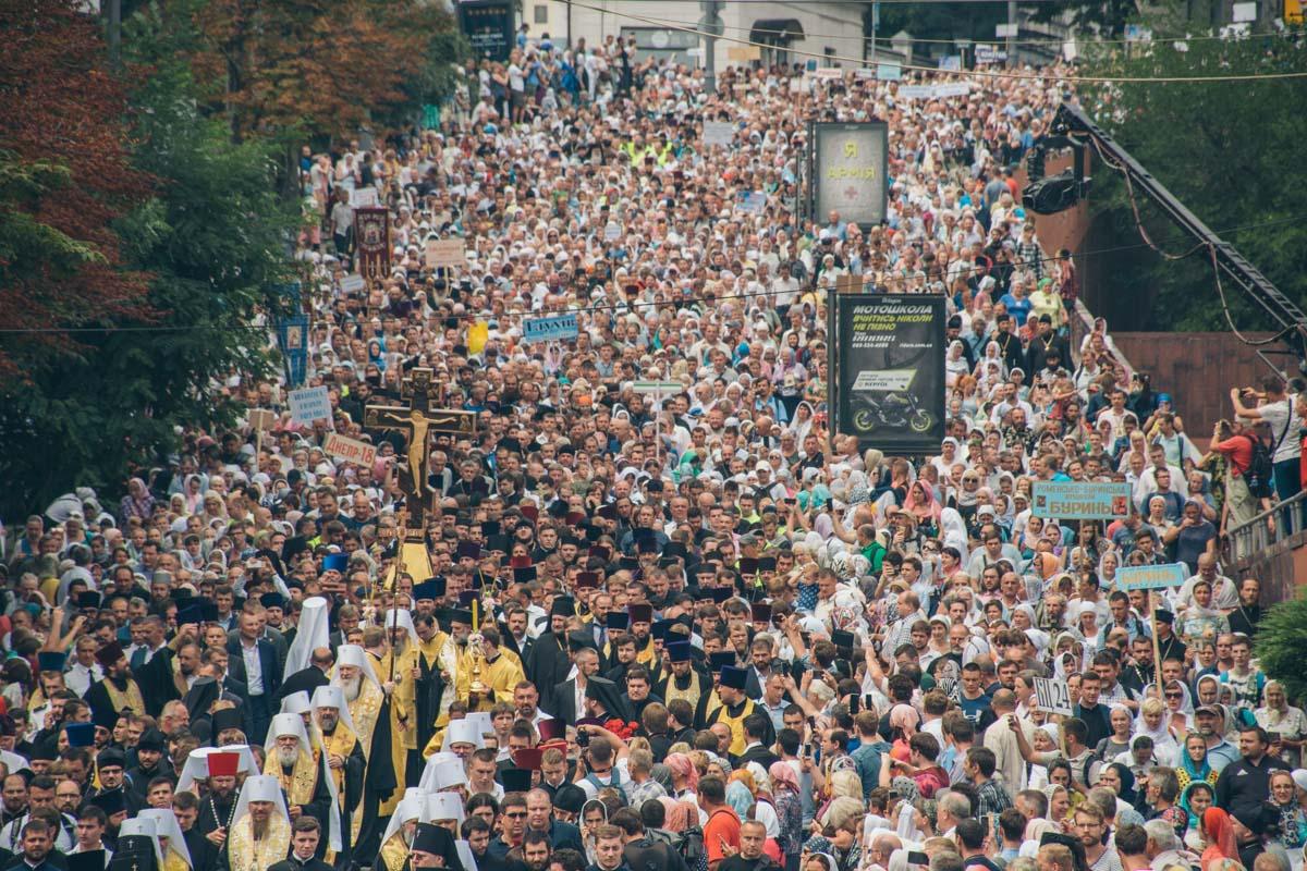 Представители УПЦ МП отметили, что пришли 250 тысяч человек