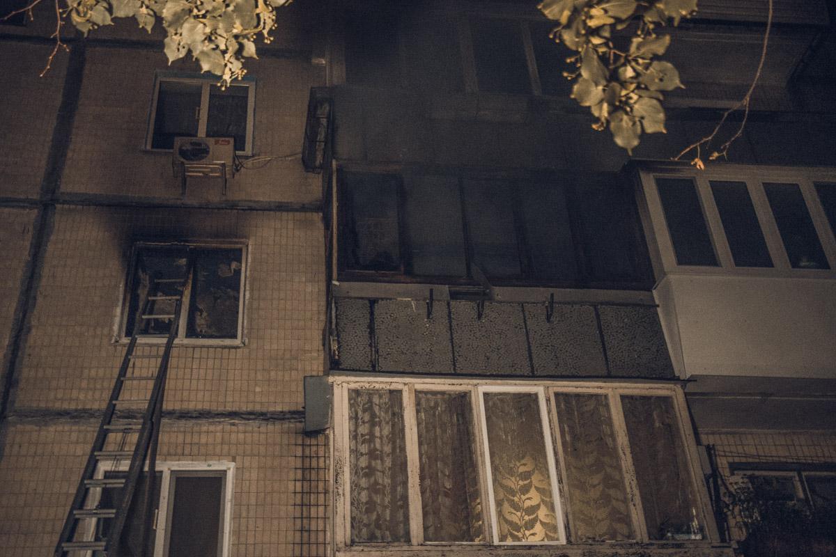 На улице Рокоссовского, 3В произошел пожар