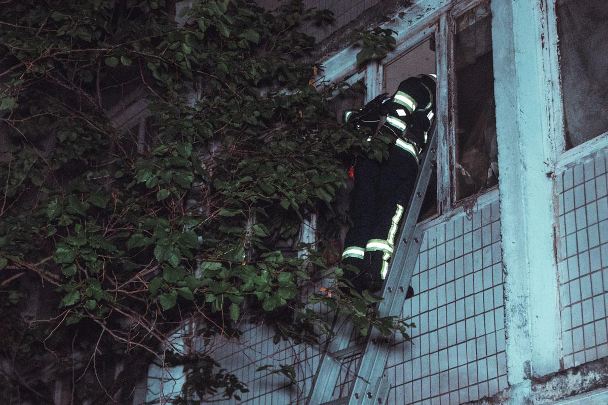 В Киеве на улице Радужной, 63 произошел пожар