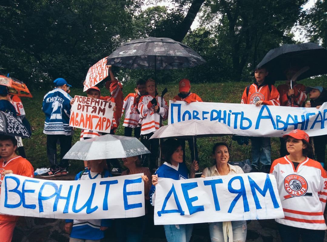 """На митинг пришли около 30 воспитанников ДЮСШ """"Сокол"""""""
