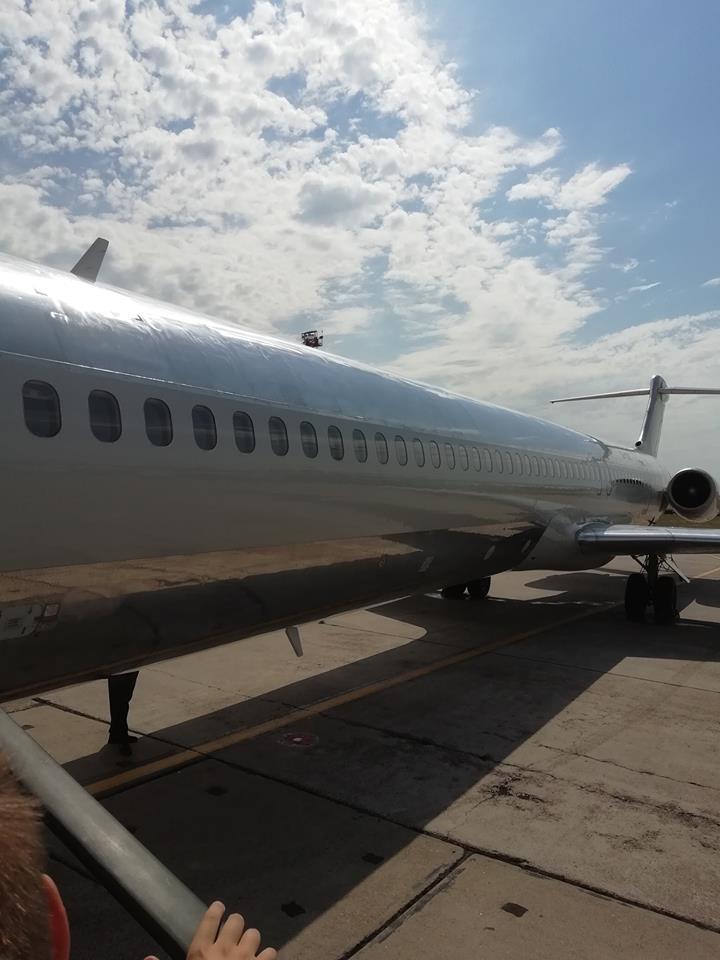 Самолет без опознавательных знаков посадили в Борисполе через полчаса после взлета
