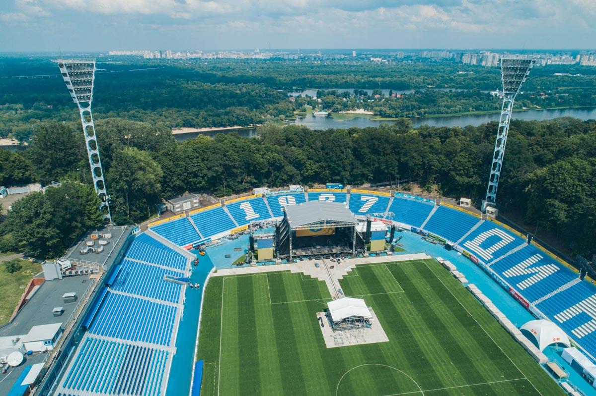 С высоты стадион выглядит особенно красиво
