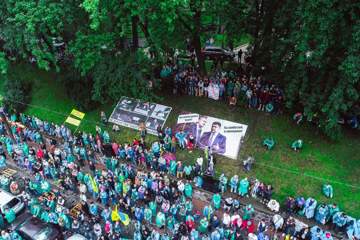За порядком в цетре Киева следили полицейские и военнослужащие Нацгвардии Украины