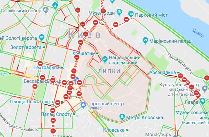 """""""Красный"""" центр Киева"""
