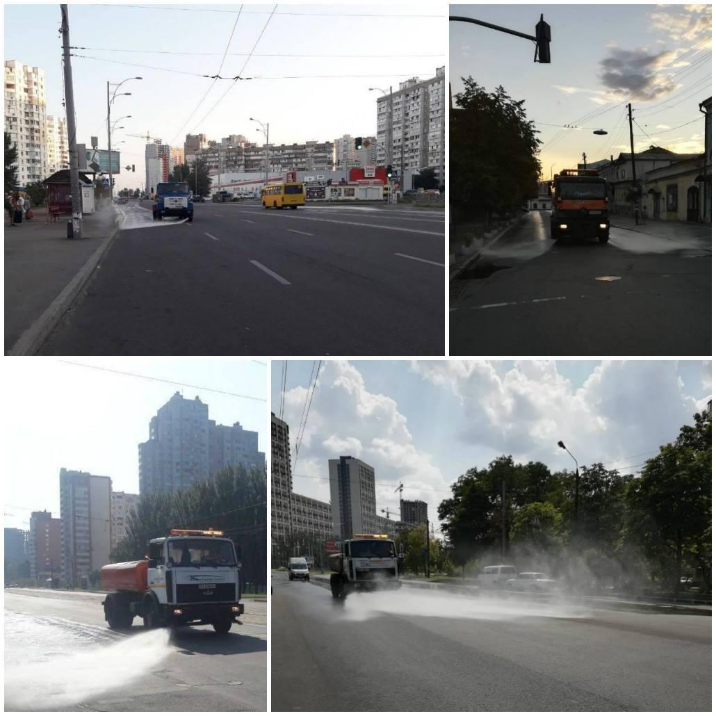 На улицах города круглосуточно работает 45 машин полива