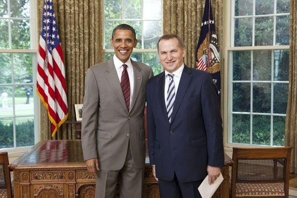 Александр Моцик и Барак Обама