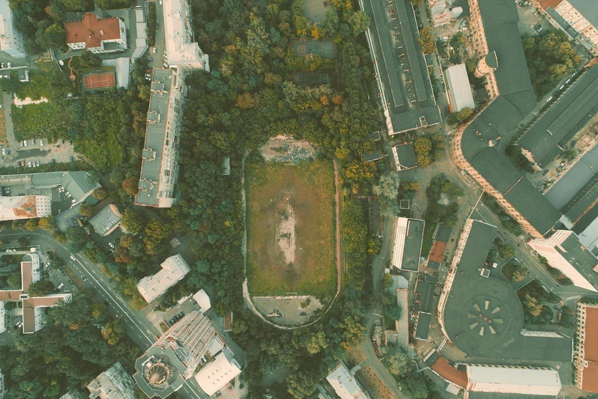 Заброшенный стадион в самом сердце столицы