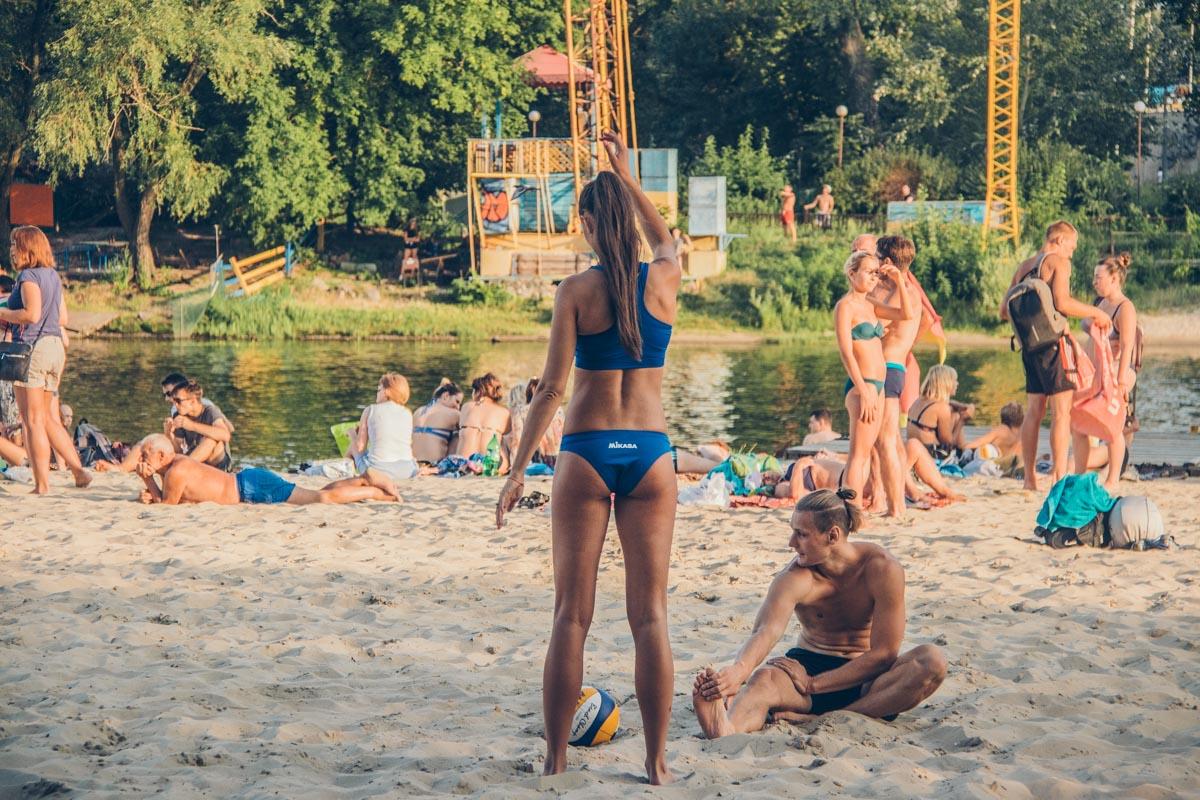 Перерыв в игре в волейбол