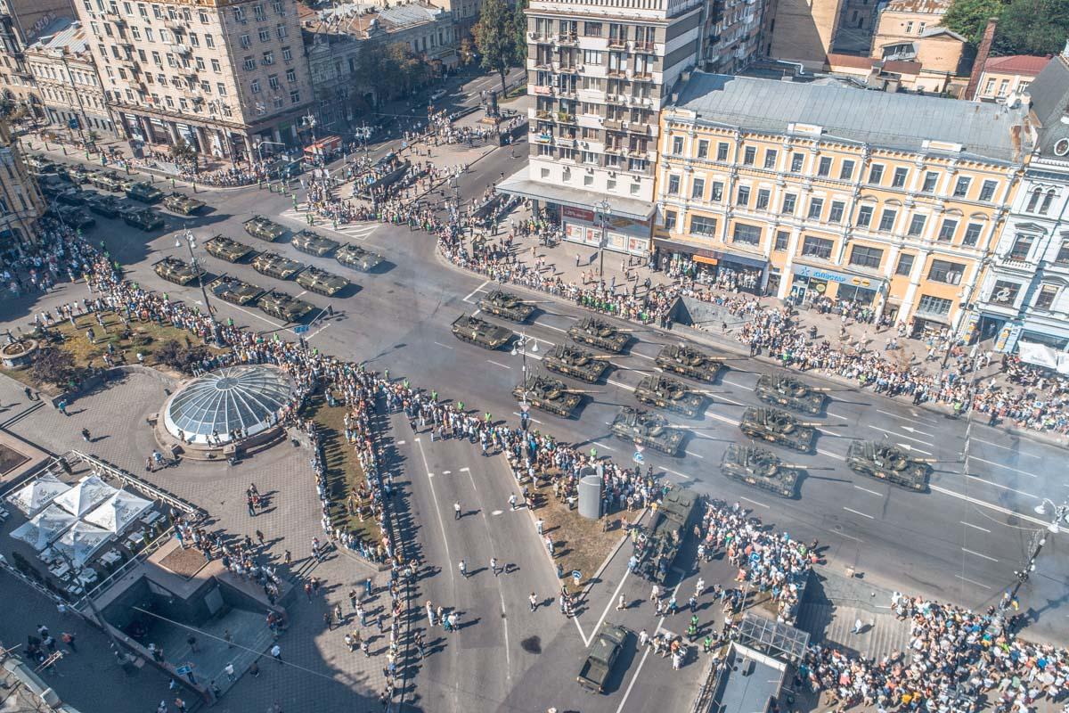 На главной улице страны собрались несколько тысяч украинцев