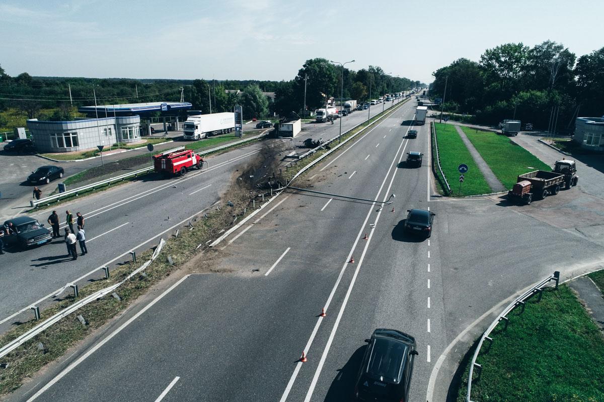 """Столкнулисьгрузовик Volvo с турецкой регистрацией иавтомобиль «ВАЗ"""""""