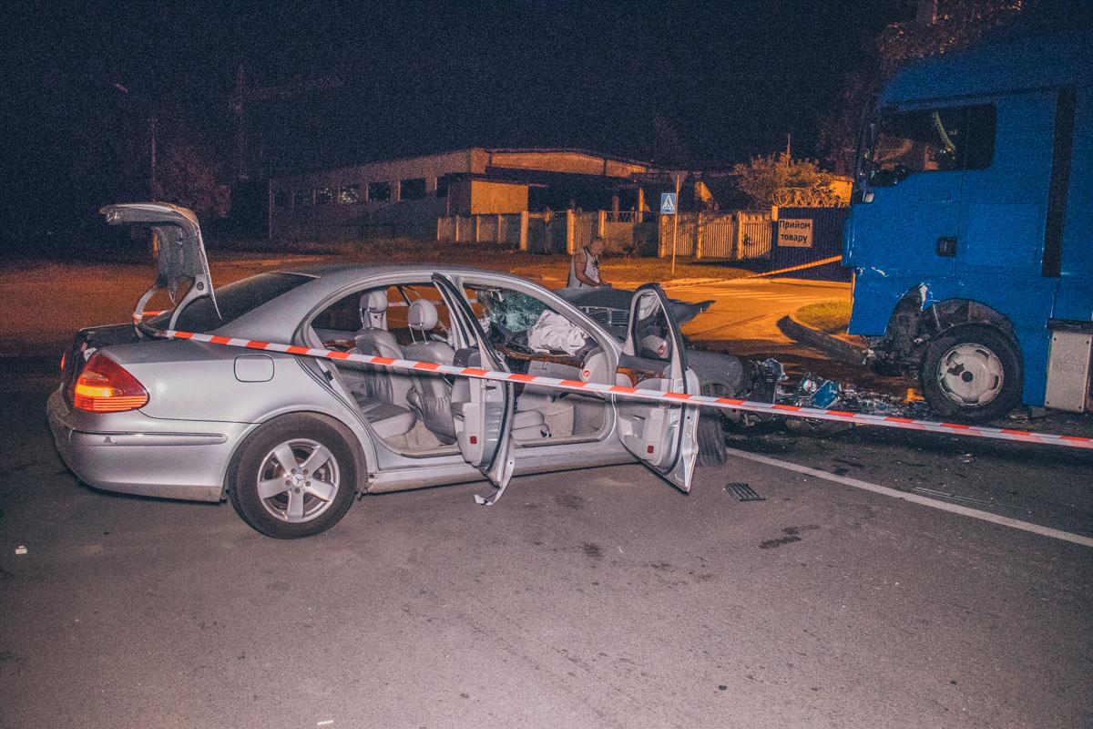 Водитель Mercedes находился в нетрезвом состоянии