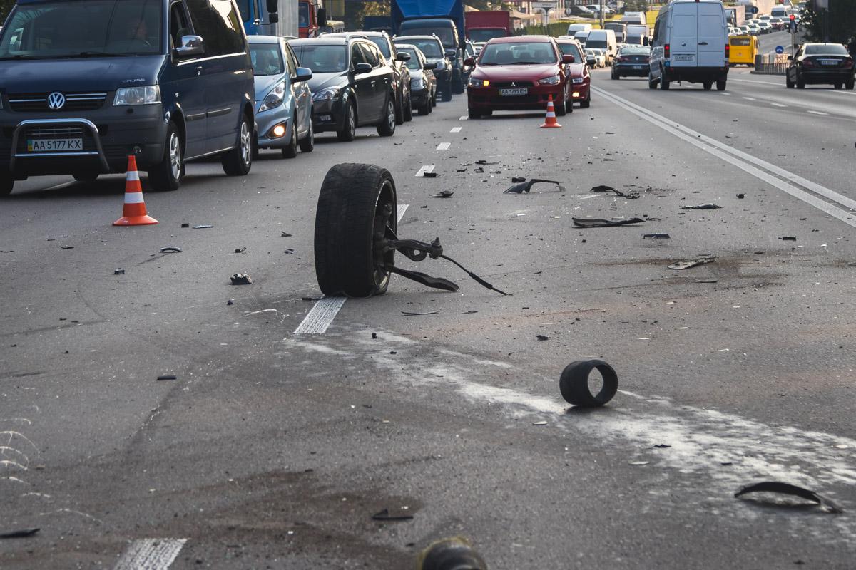 На ходу у Volkswagen отпало колесо