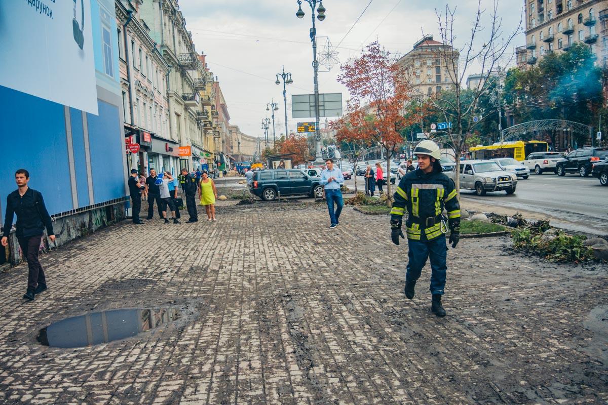 Улица после ночного потопа