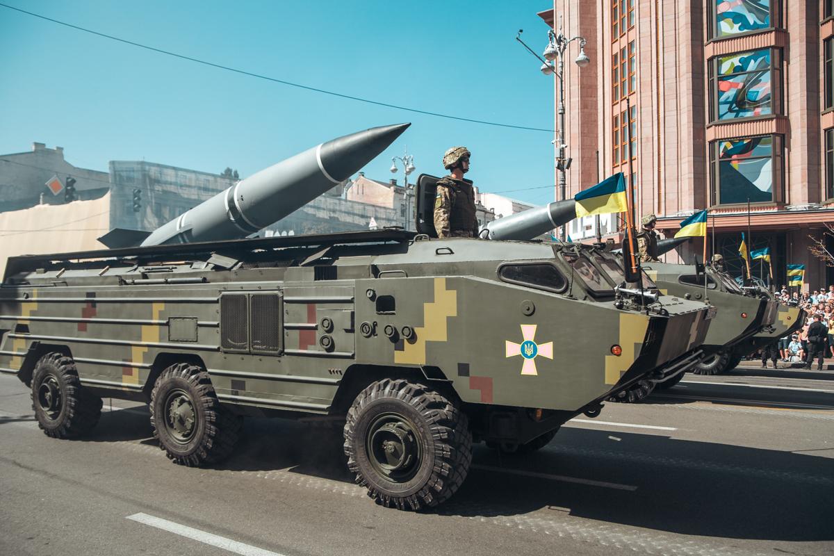 Вот такими ракетами любовались зрители военного парада на Крещатике