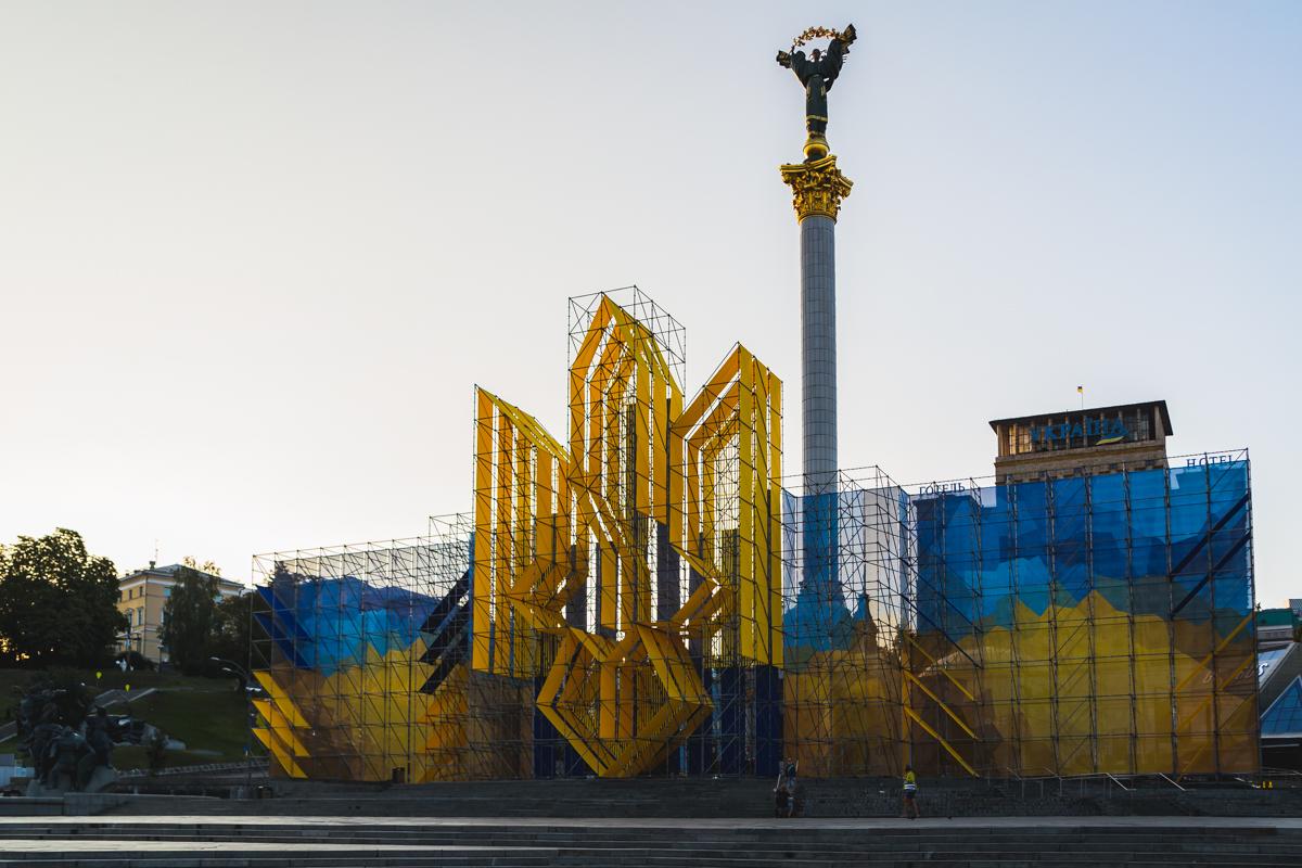 Майдан выглядит относительно чистым
