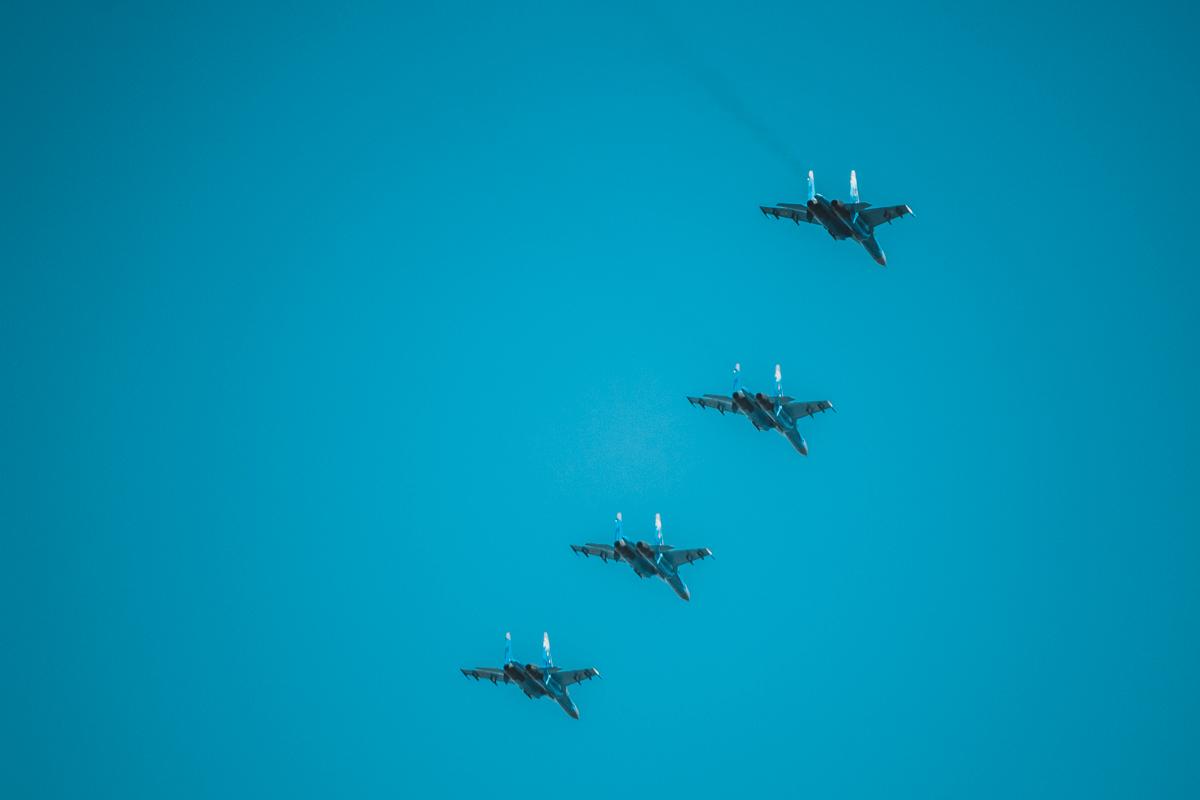 Су-27 в воздухе
