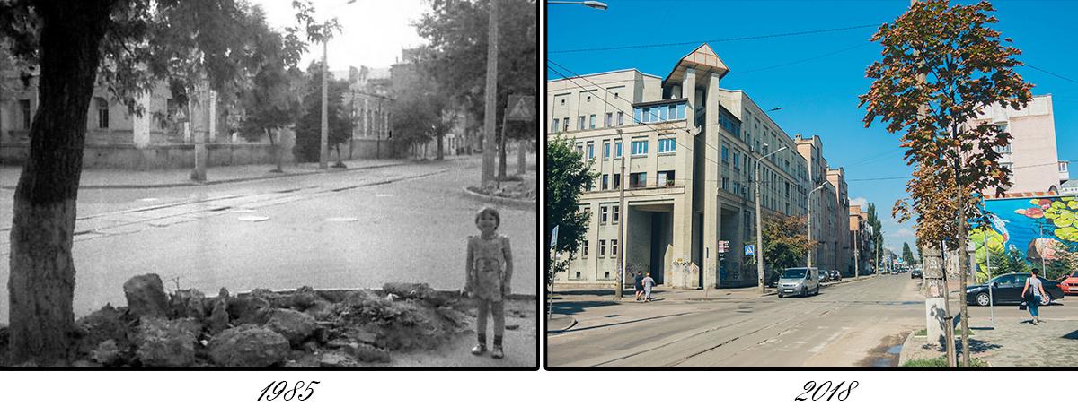 Некоторые части улицы давно застроили новыми постройками