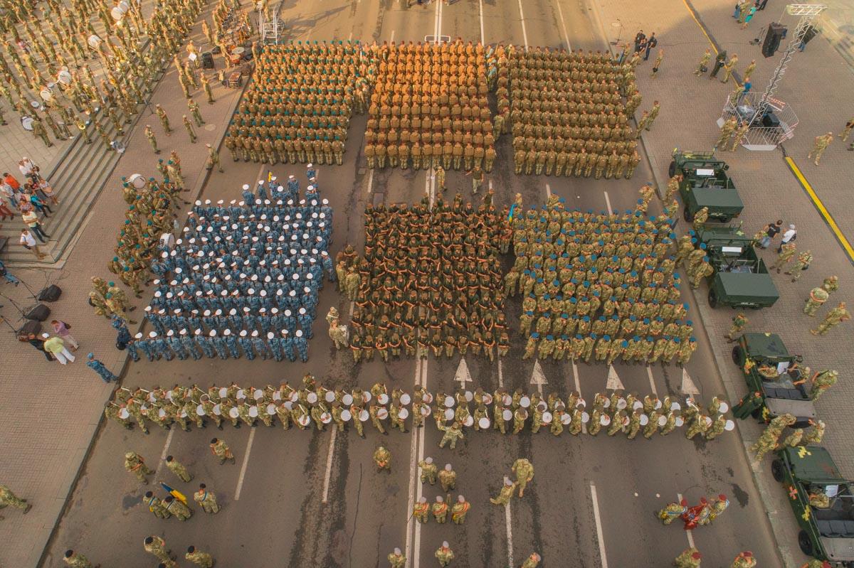 Военные перед маршем