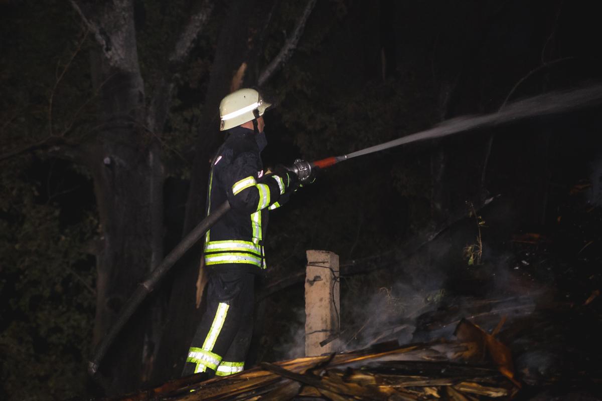 Пожарные всеми силами пытались потушить огонь