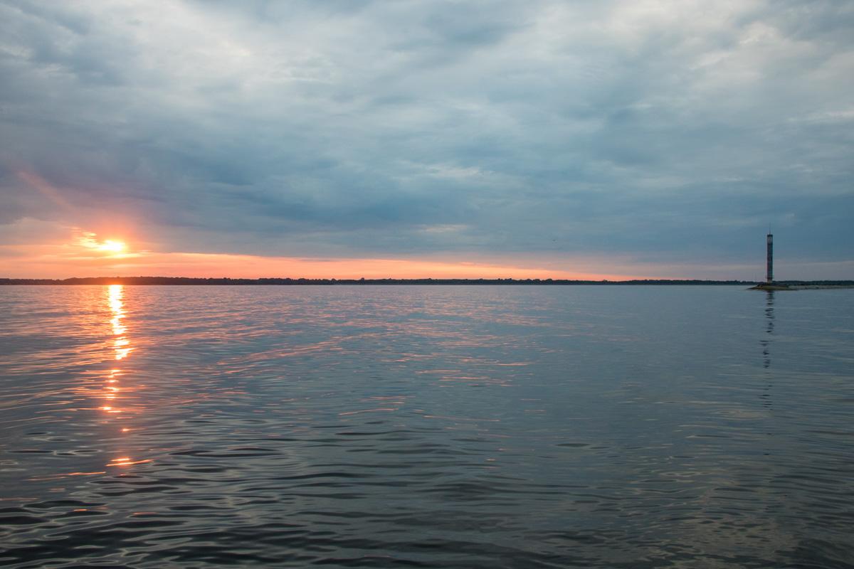 Новый день на Киевском море начинается особенно красиво