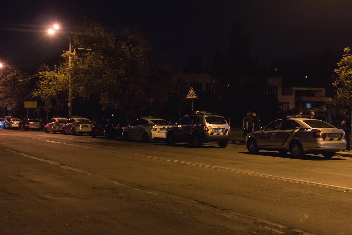 Чтобы угомонить толпу, собралось более 10 экипажей полиции
