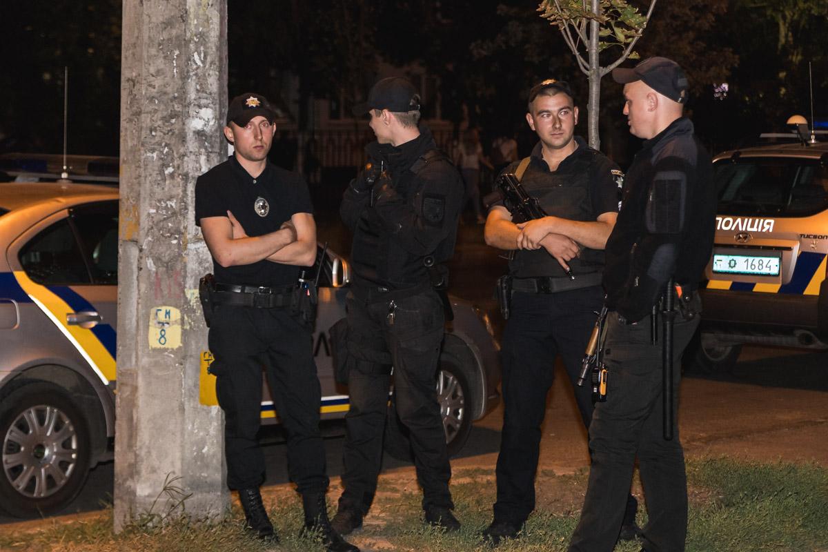 При множестве полиции студенты начали расходиться