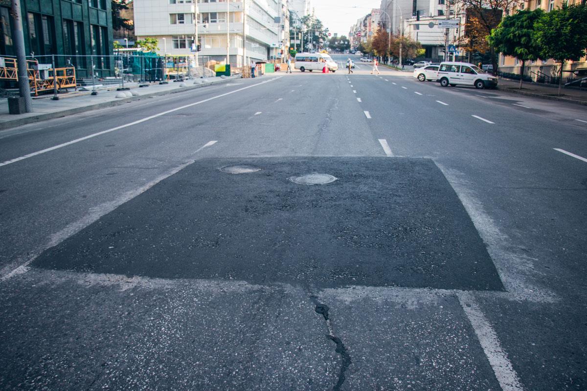 Разметку на обновленные участки дороги пока не нанесли