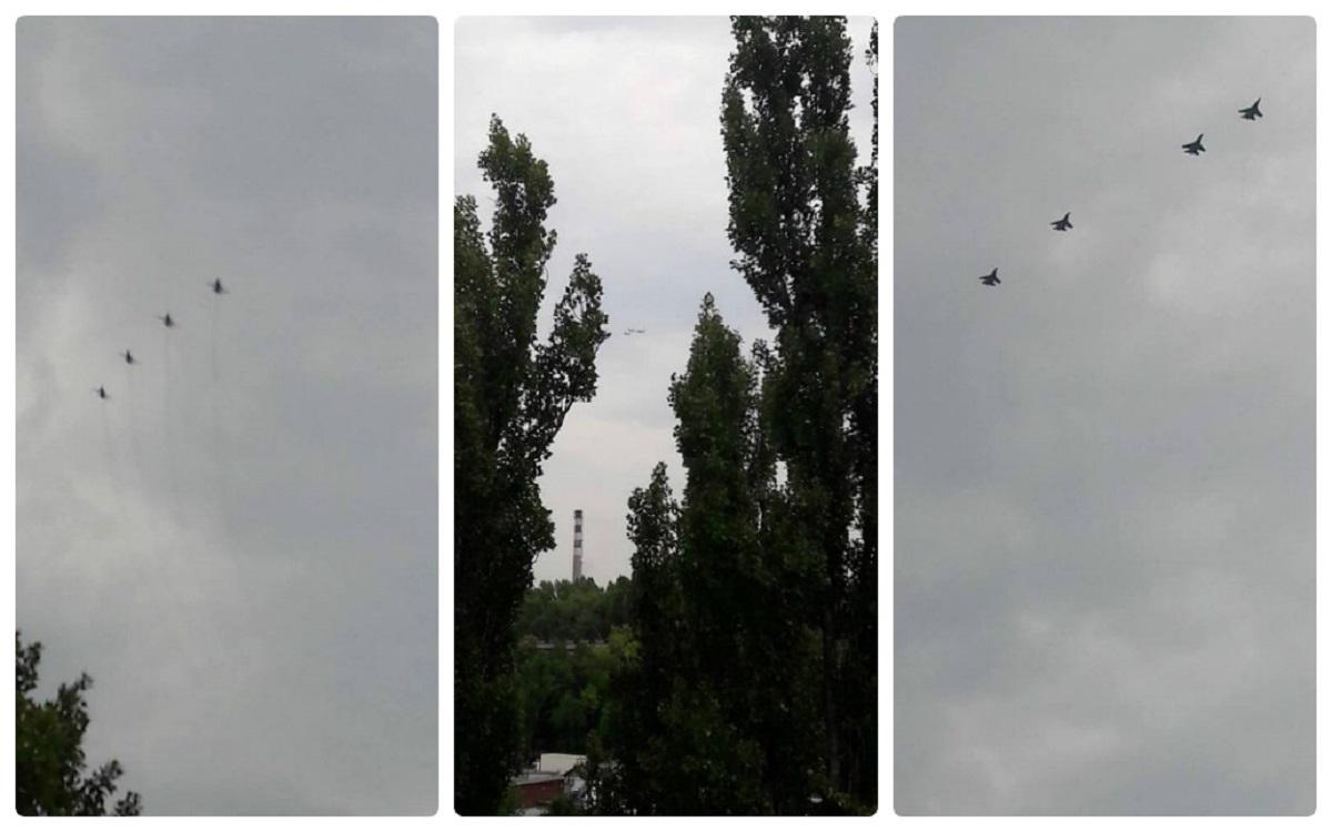В небе над Киевом жители столицы заметили военные самолеты
