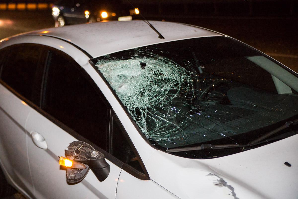 Ford Fiesta сбил мужчину первым