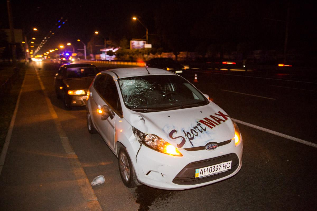 В Киеве на проспекте Победы, напротив зоопарка произошло смертельное ДТП