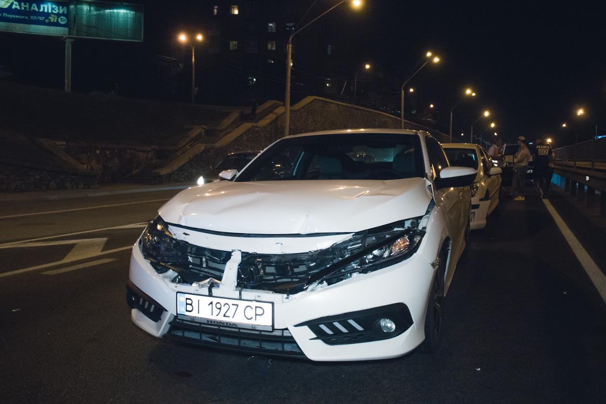 Honda Civic влетел в Volkswagen Crafter