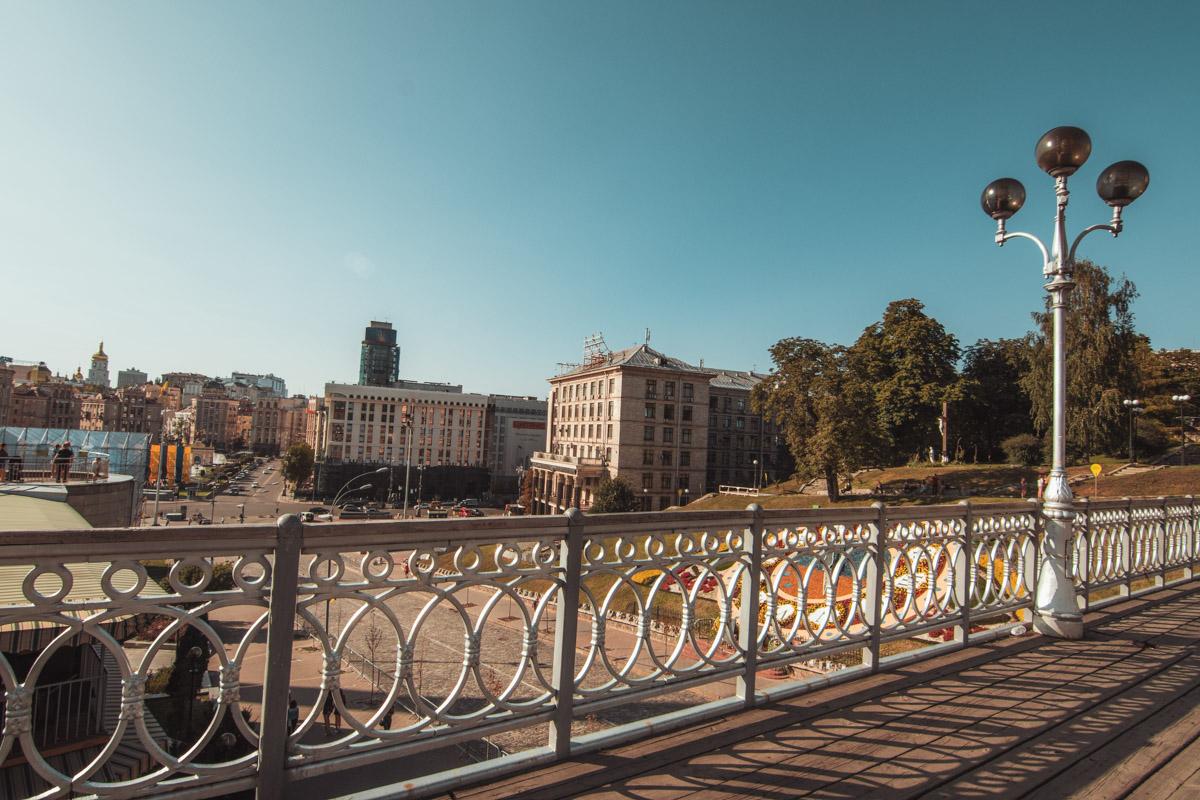 А вот вид и с самого моста Тысячелетий