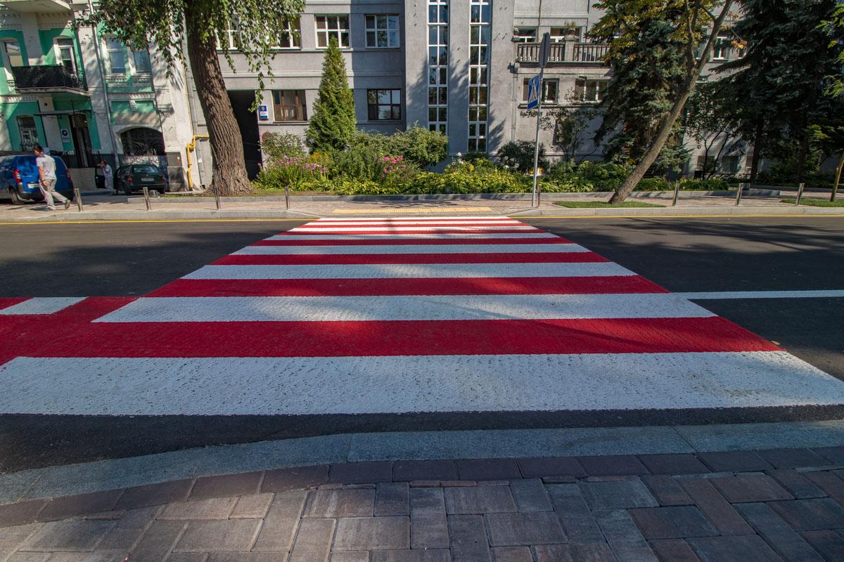 Пешеходный переход обновили