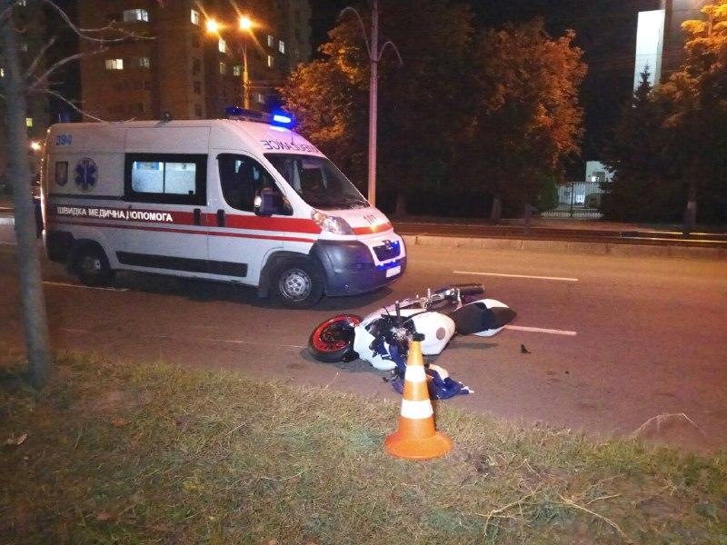 Мотоциклист сбил пешехода и скрылся с места происшествия
