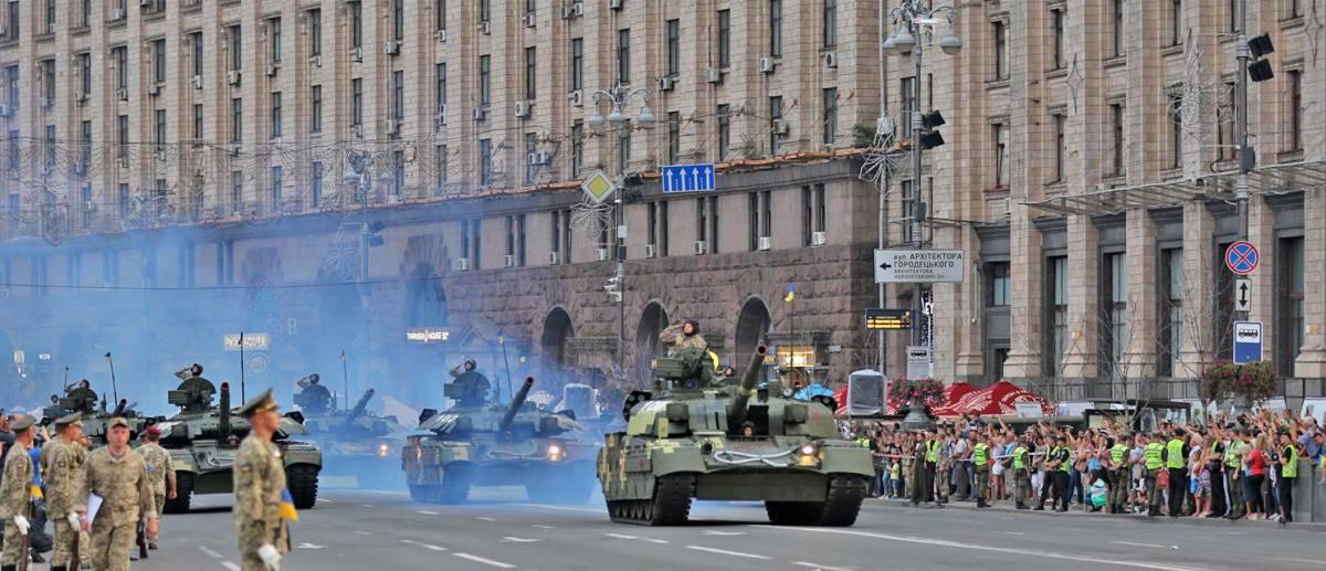 Военный парад в центре Киева
