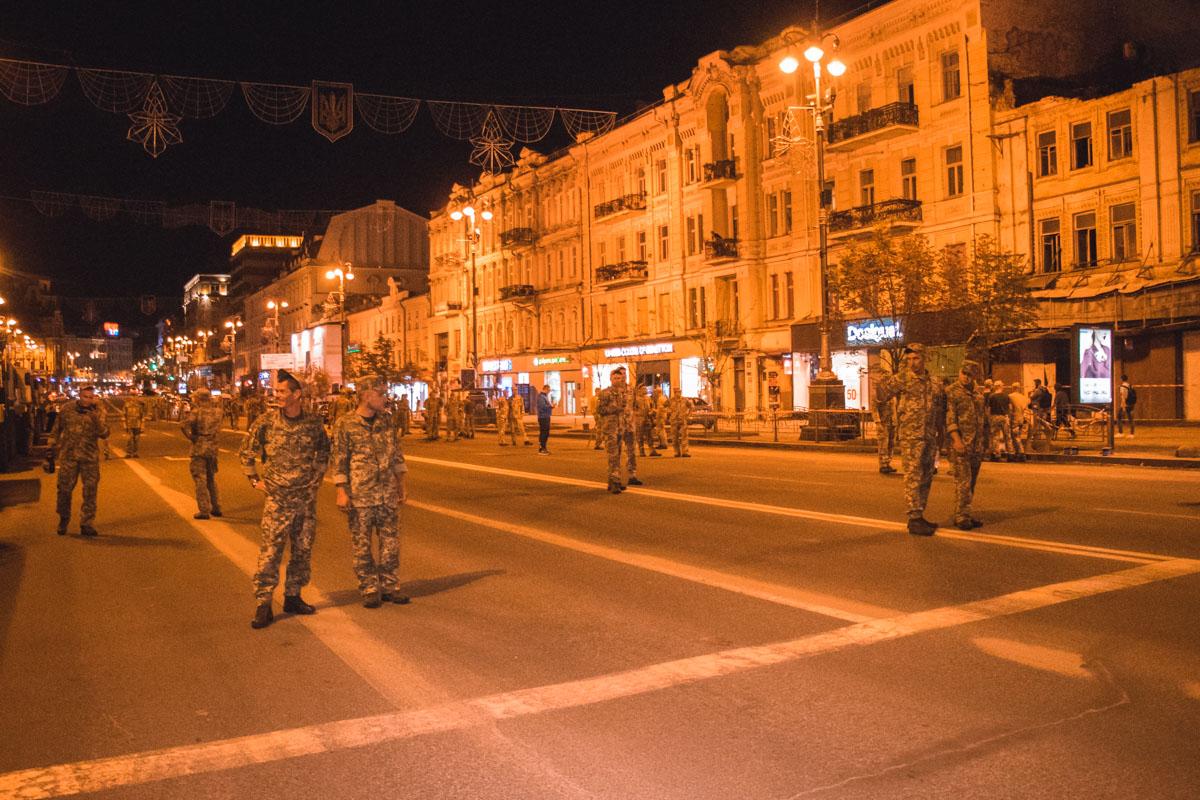В центре Киева прошла первая репетиция парада к Дню Независимости 2018