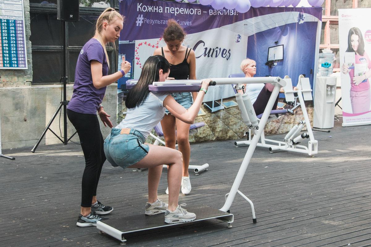 Открытую тренировку для всех желающих провела Анита Луценко