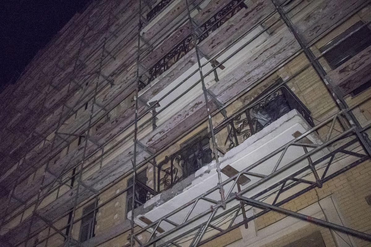 Наданный момент фасад постройки находится на реконструкции