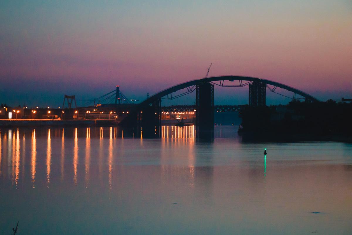 Подольский мост в свете огней