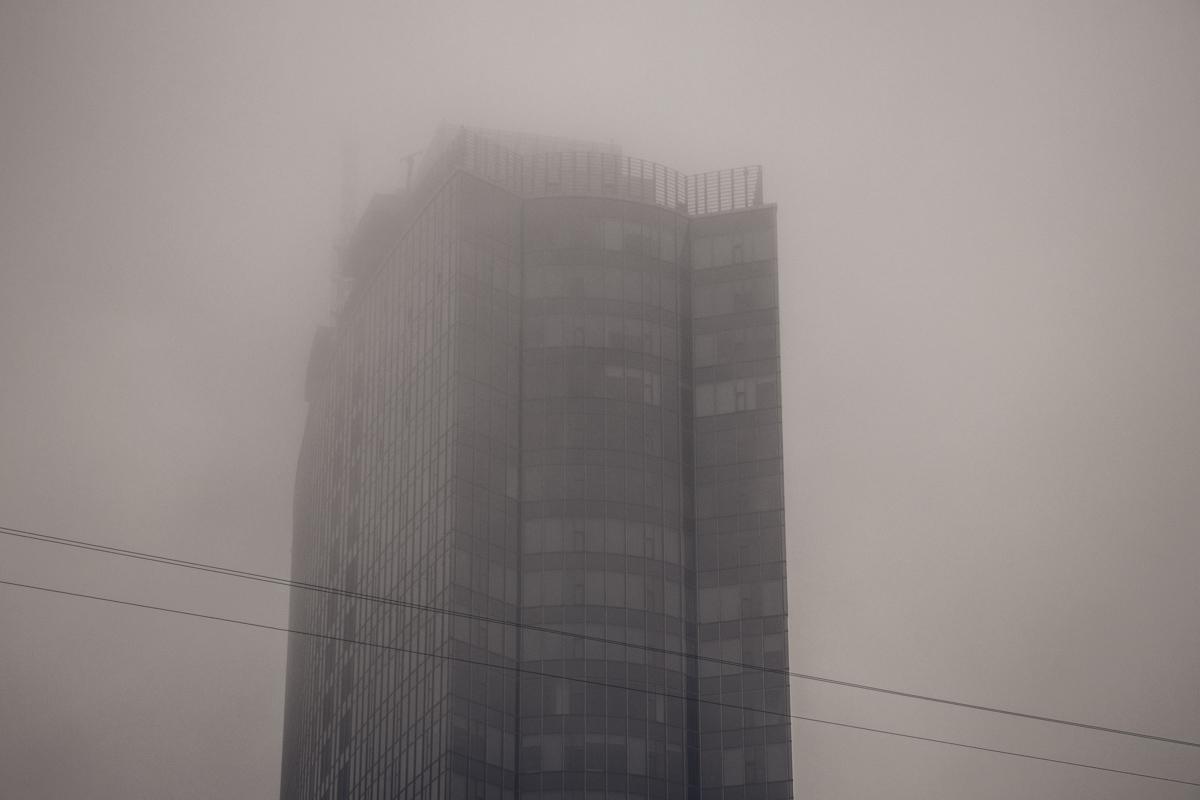 Серая мгла окутала столицу во вторник утром, 28 августа