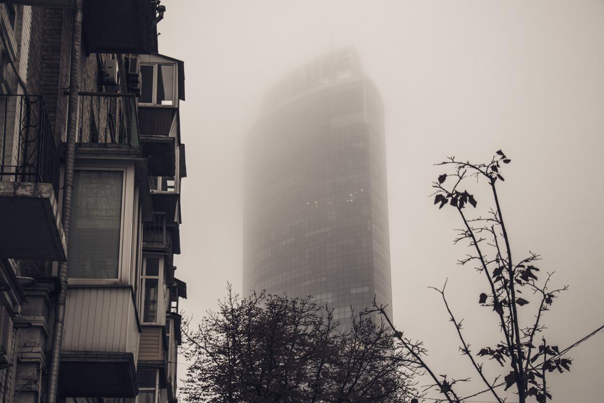 """""""Белое покрывало"""" затянуло небо и верхушки домов"""