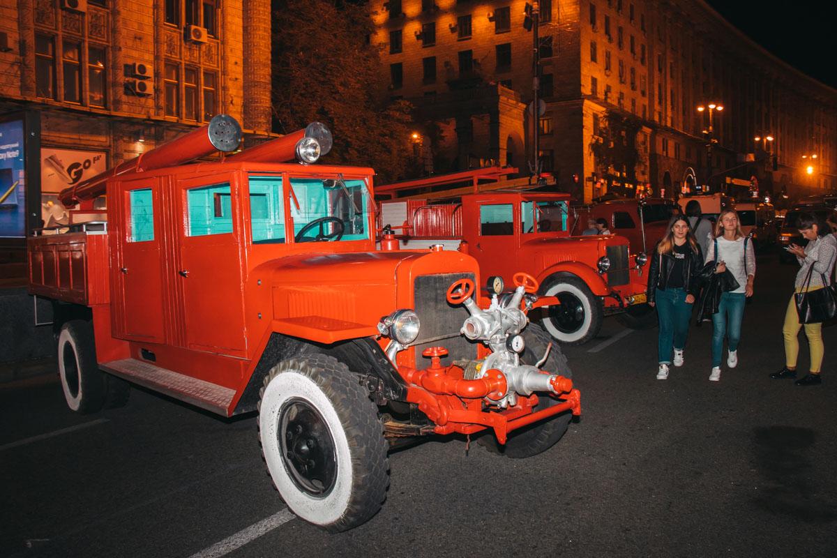 Пожарный автопарк во всей красе