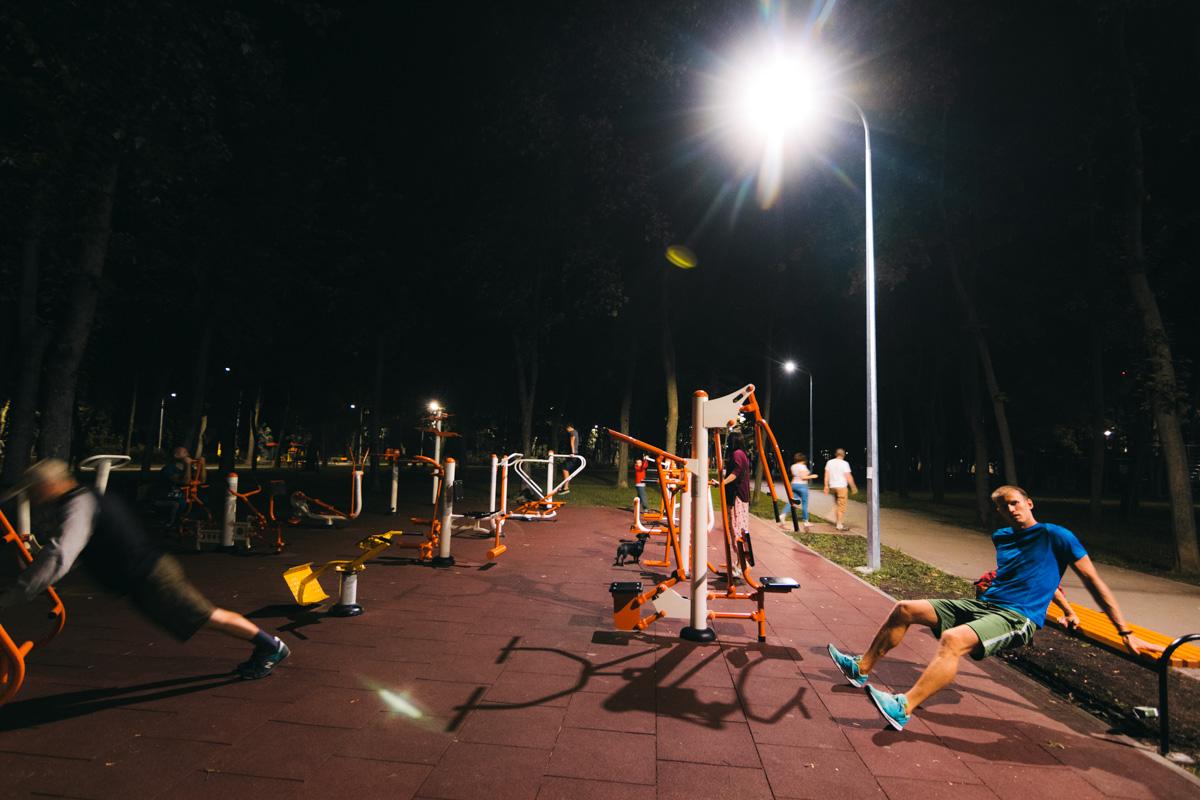 Можно заниматься спортом по ночам