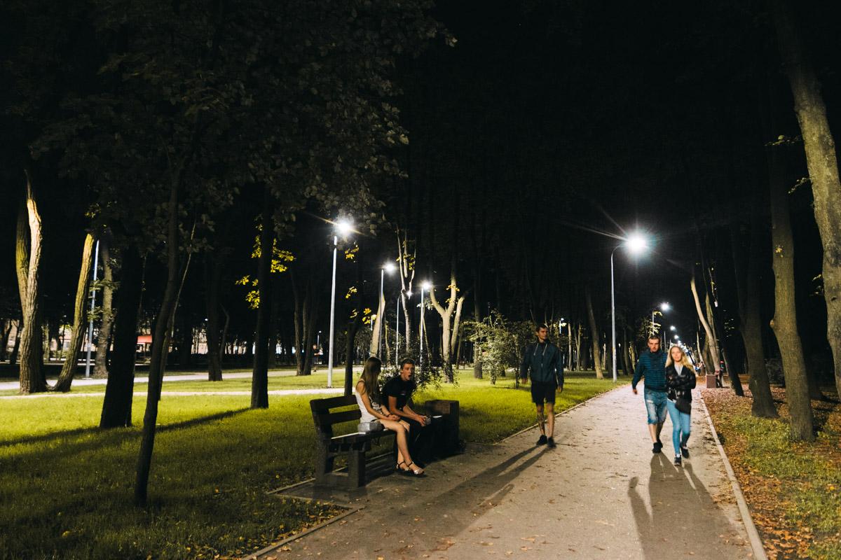 Парк довольно популярное место отдыха и прогулок местных жителей